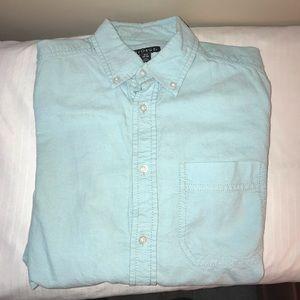 George's Aqua blue button up shirt
